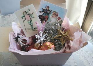 Pink christmas box