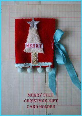 Merry felt christmas holder