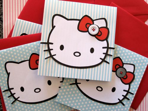 Hello kitty invites