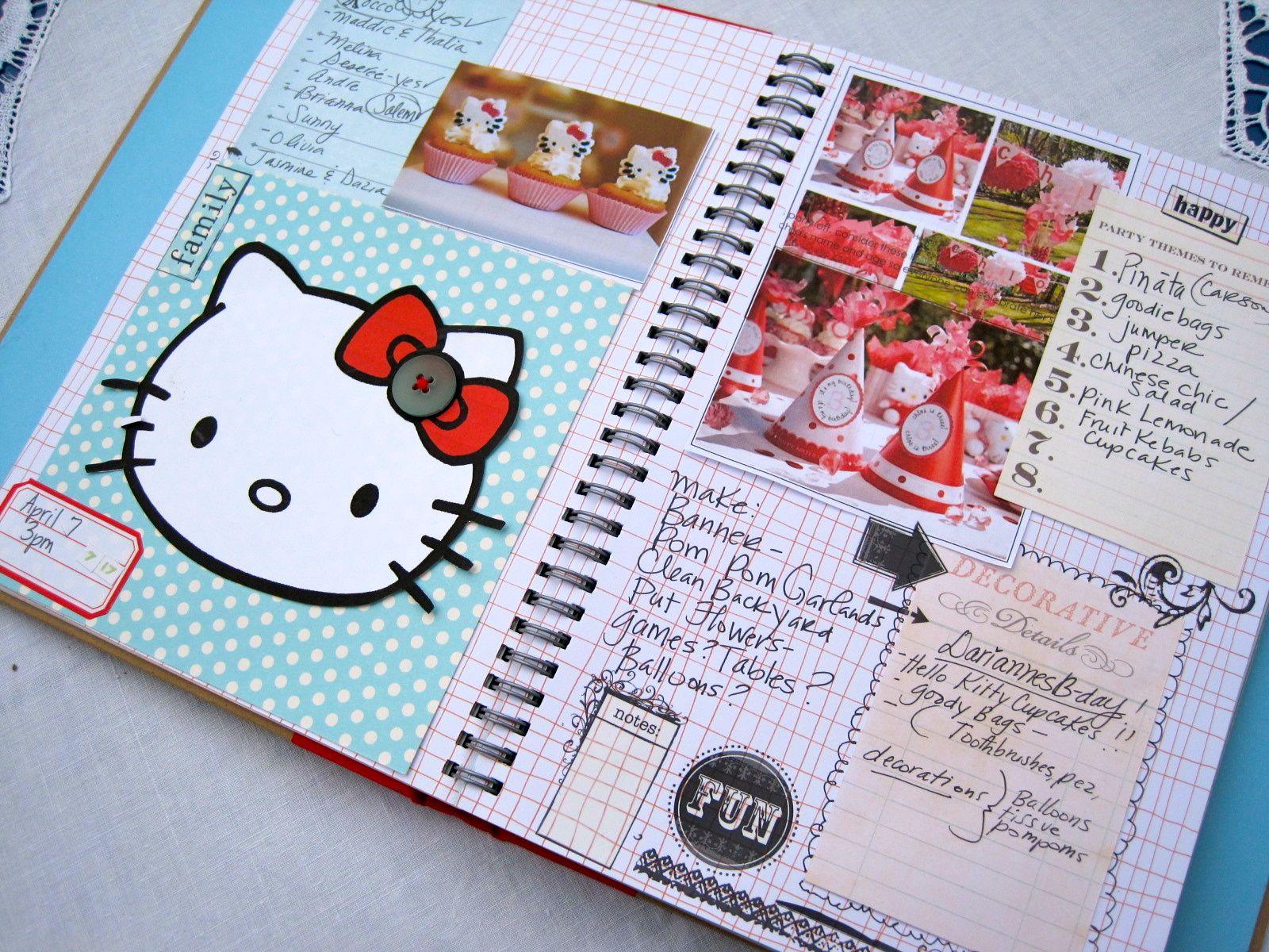 Hello kitty scrapbook ideas - Party1
