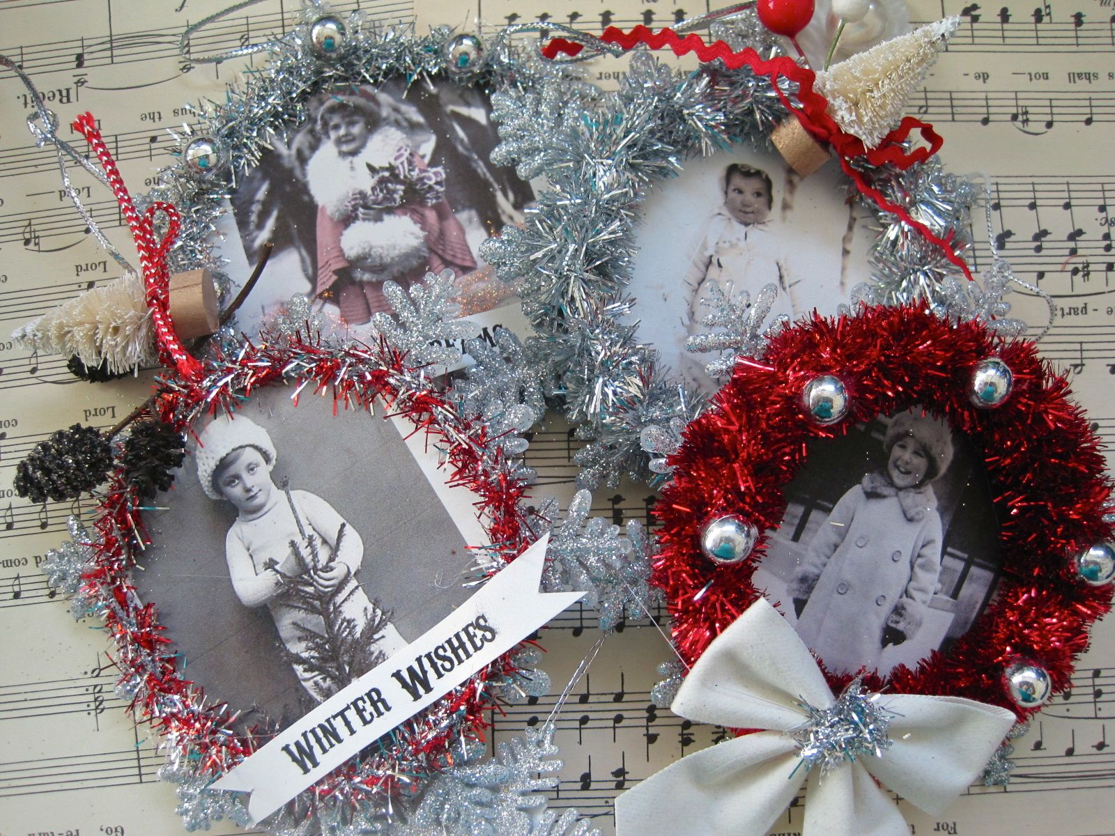 Vintage looking christmas ornaments - Vintage Style Christmas Ornaments